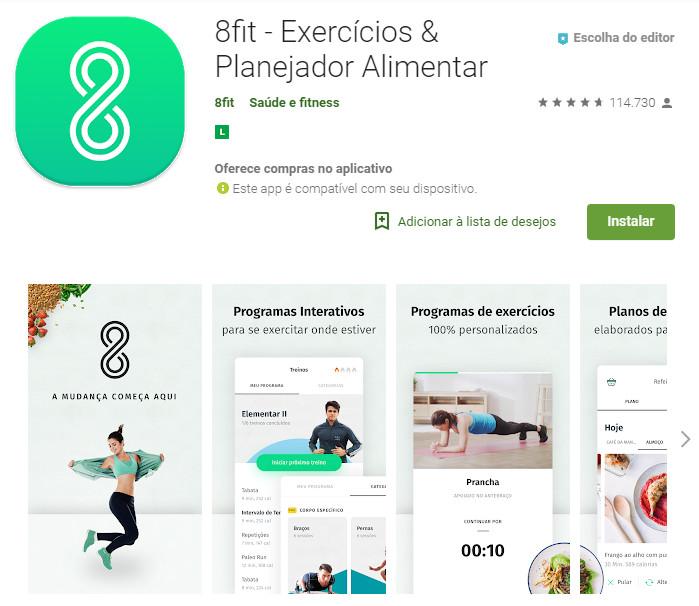 8fit - Exercícios & Planejador Alimentar