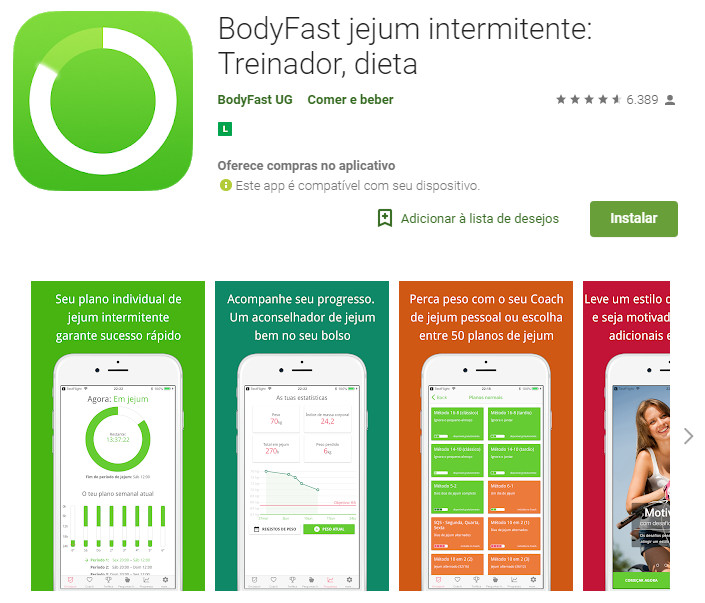 BodyFast jejum intermitente