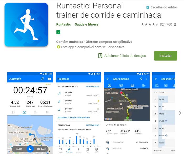 Runtastic - Personal trainer de corrida e caminhada