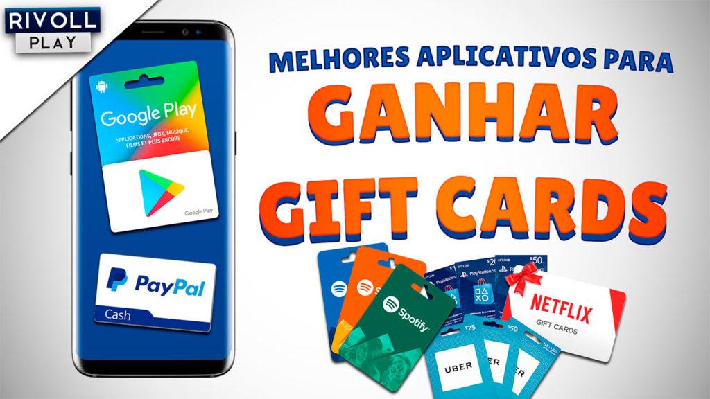 Aplicativos para ganhar GIFT CARDS