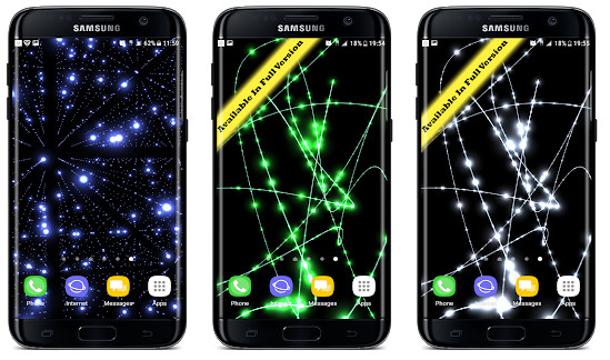 Parallax Infinite Particles 3D Live Wallpaper: techmotionbr